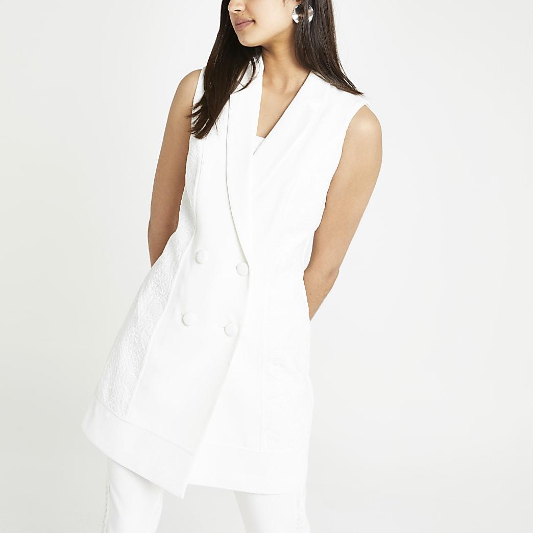 Cream lace tux jacket