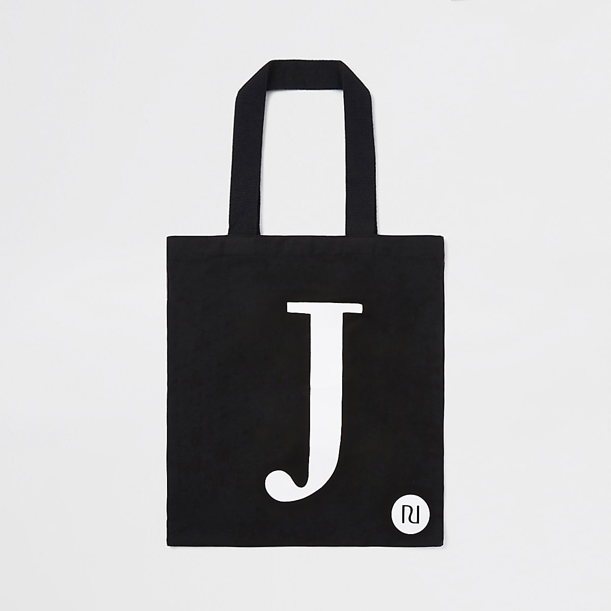 Cabas noir avec lettre J