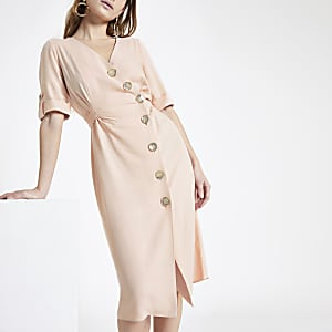 Petite – Robe mi-longue boutonnée sur le devant
