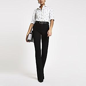 White RI long sleeve poplin shirt