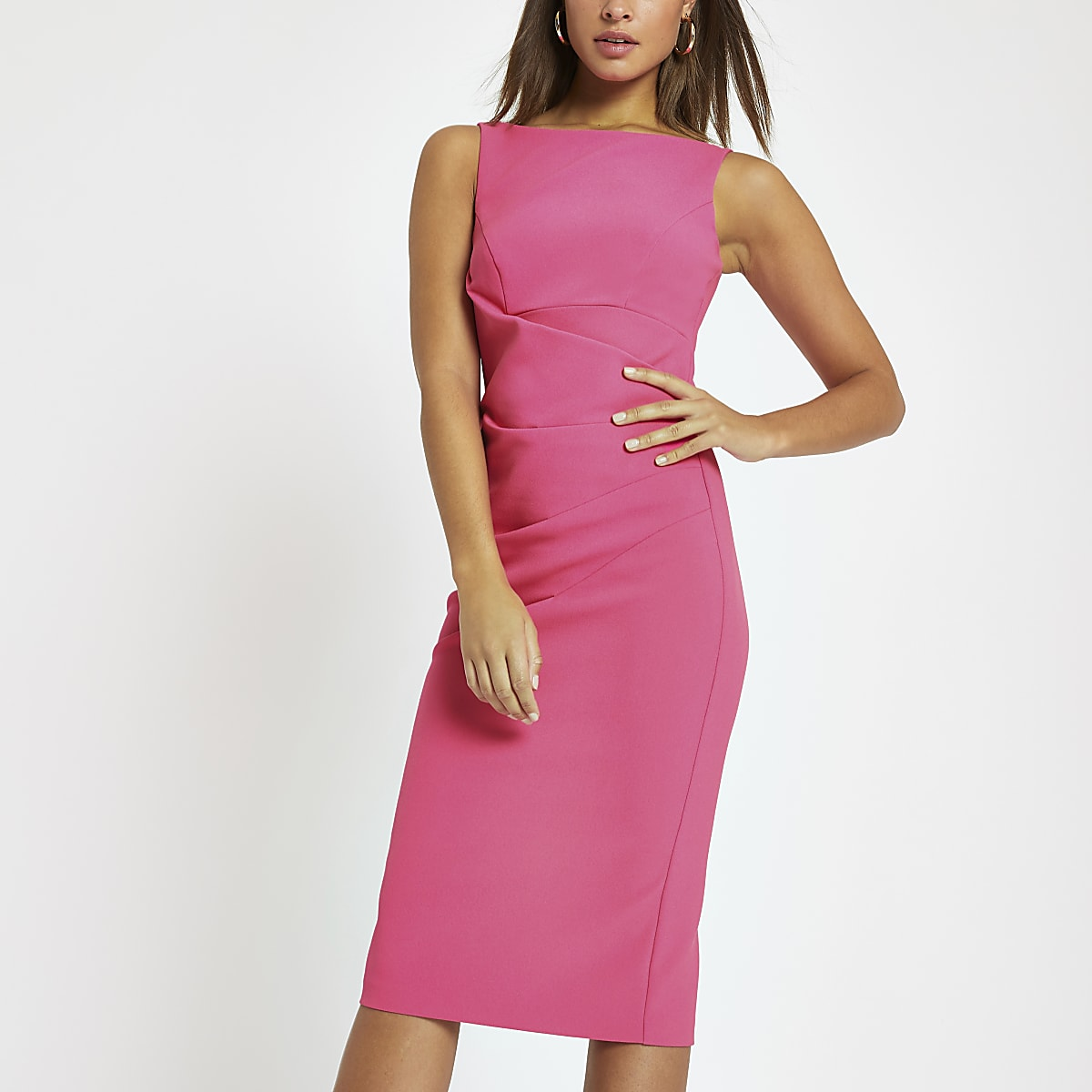 fef4dea88ae6 Bright pink bodycon midi dress - Bodycon Dresses - Dresses - women