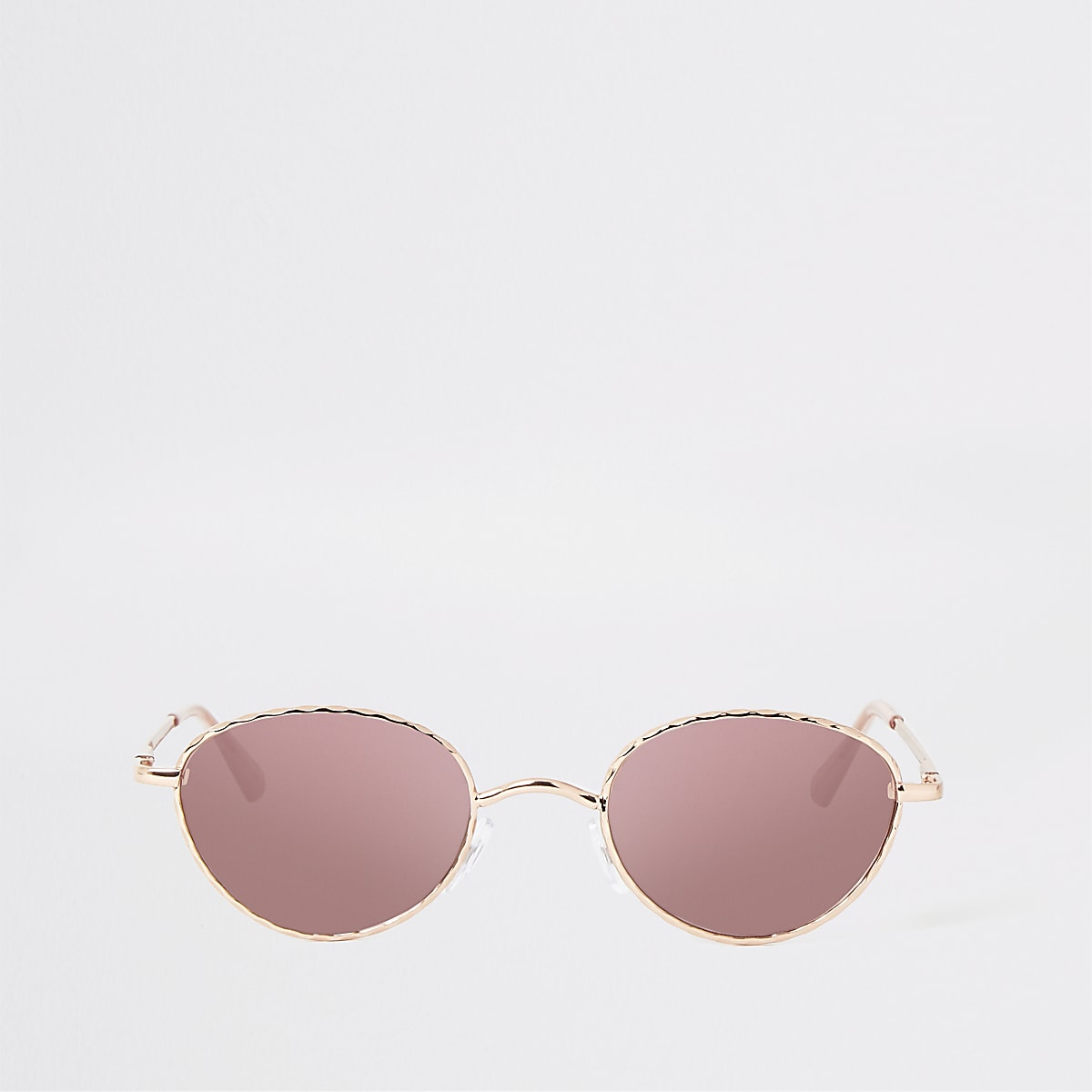 Rose gold tone slim twist sunglasses