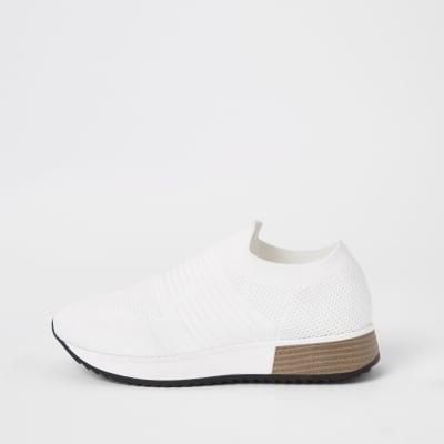 Weiße Sneaker by River Island