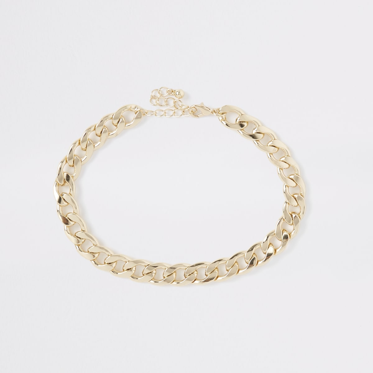 Gold colour chunky curb chain choker