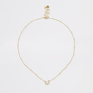 Gold colour horse shoe necklace