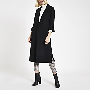 Black blazer duster jacket