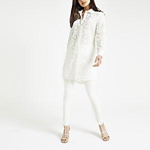 Wit kanten overhemd