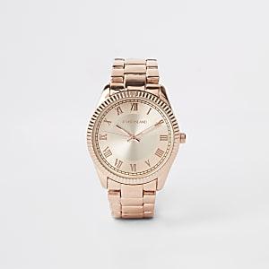 Rose gold color bracelet watch