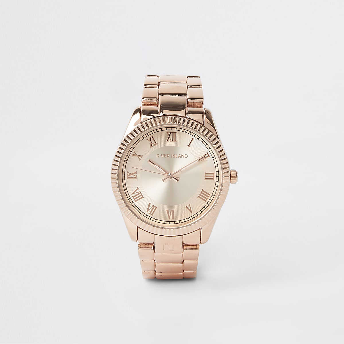 Rose gold colour bracelet watch