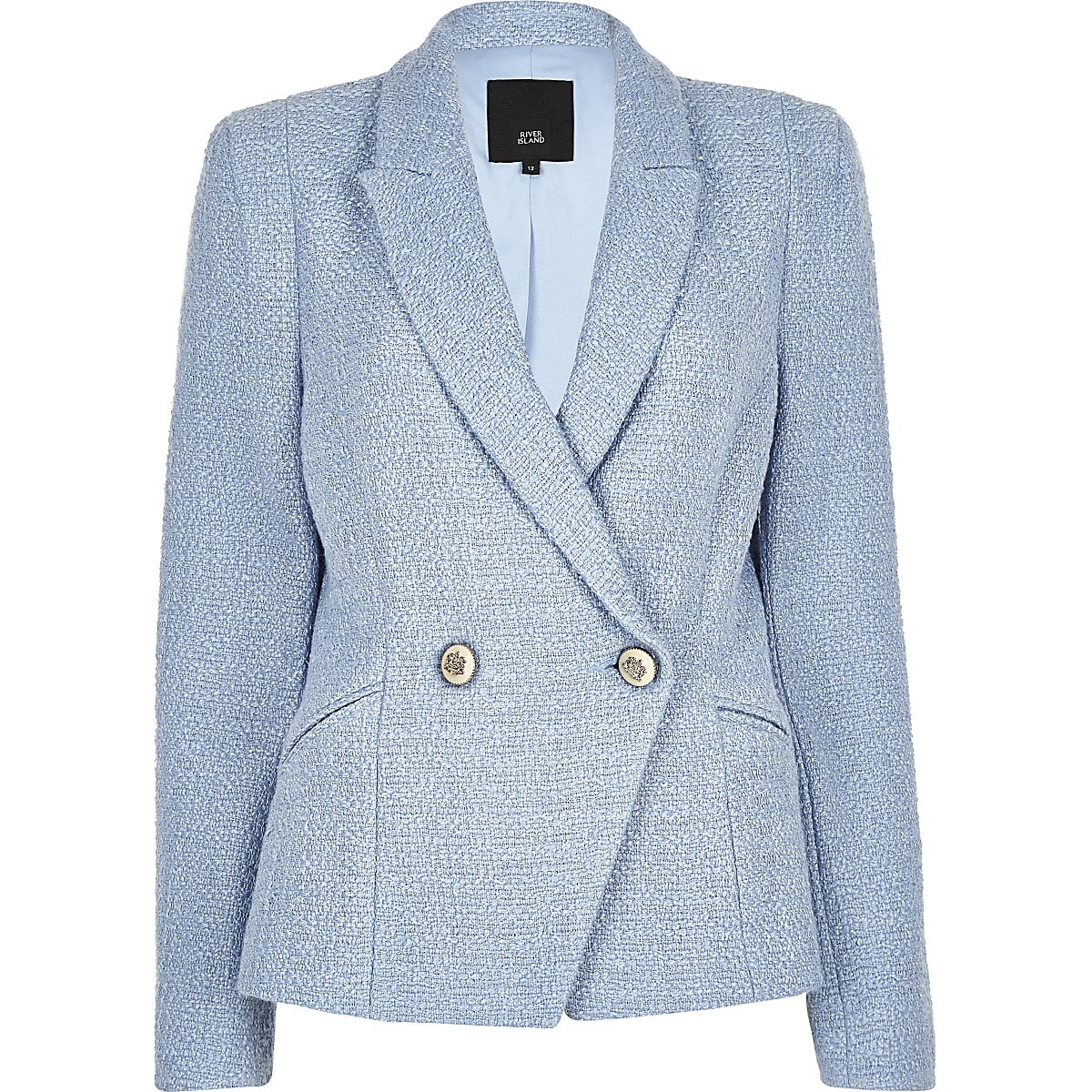 Blue Cropped Blazer