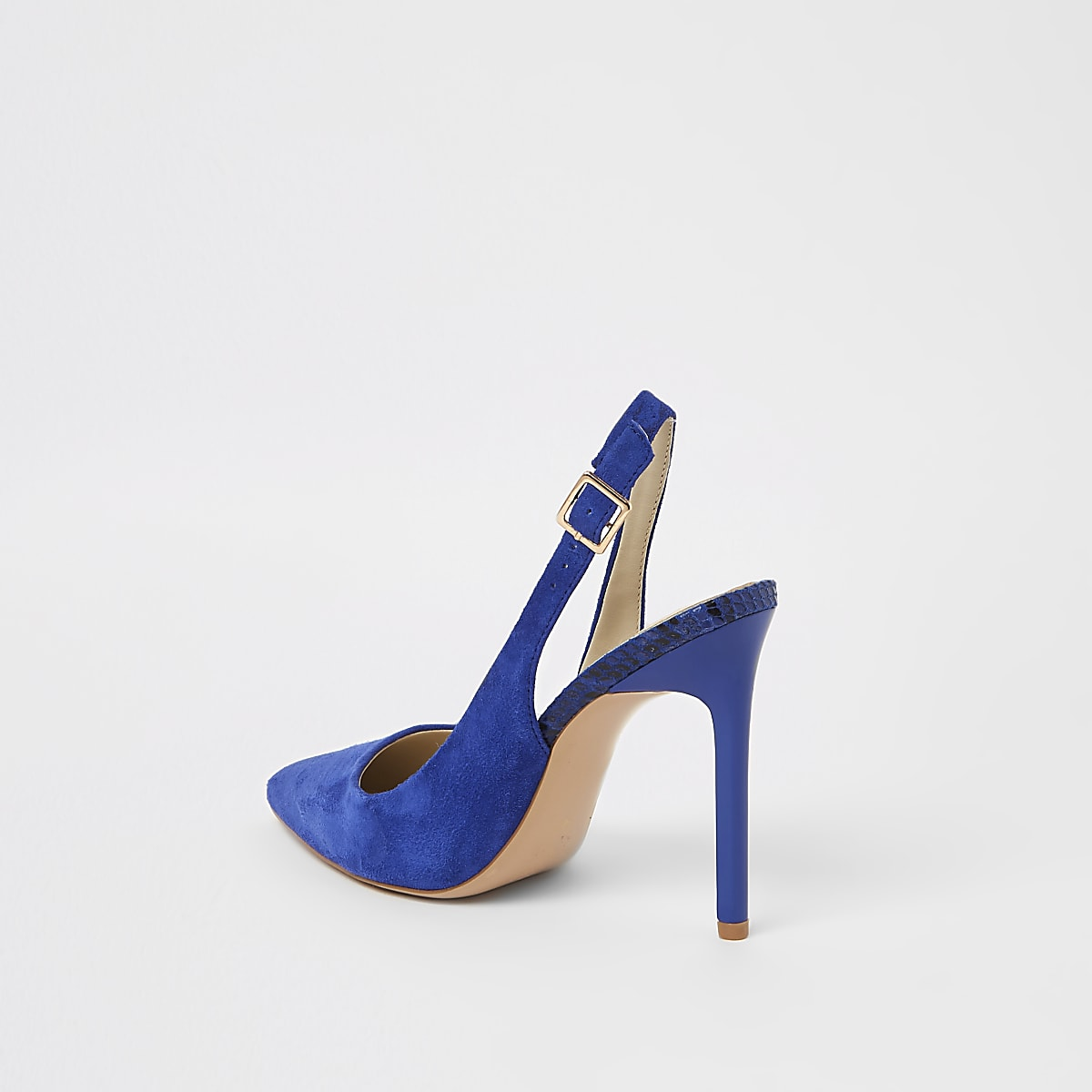 a687a40cb08 Blue pointed toe slingback court shoes - Shoes - Shoes   Boots - women