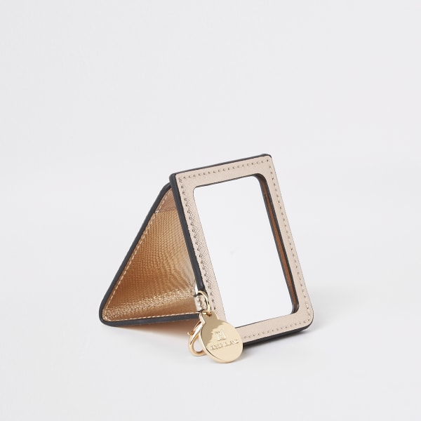 River Island - miroir compact doré effet croco à - 3