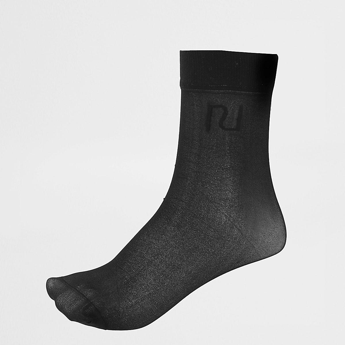 Black RI sheer socks