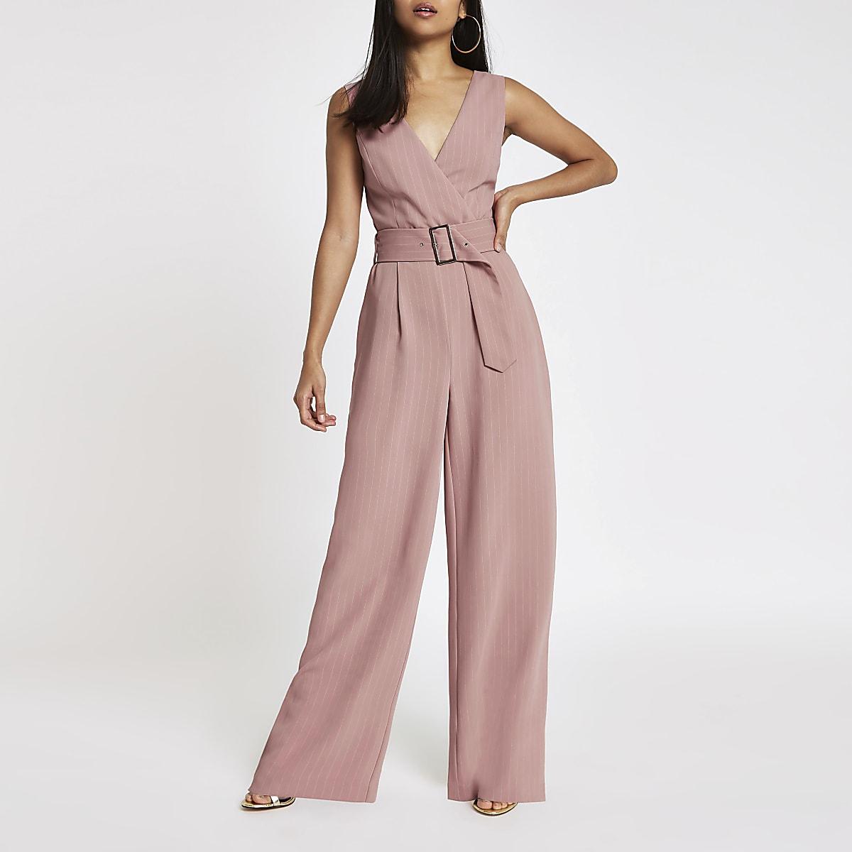 8cbf9a15cfe Petite pink belted wide leg jumpsuit - Jumpsuits - Playsuits   Jumpsuits -  women