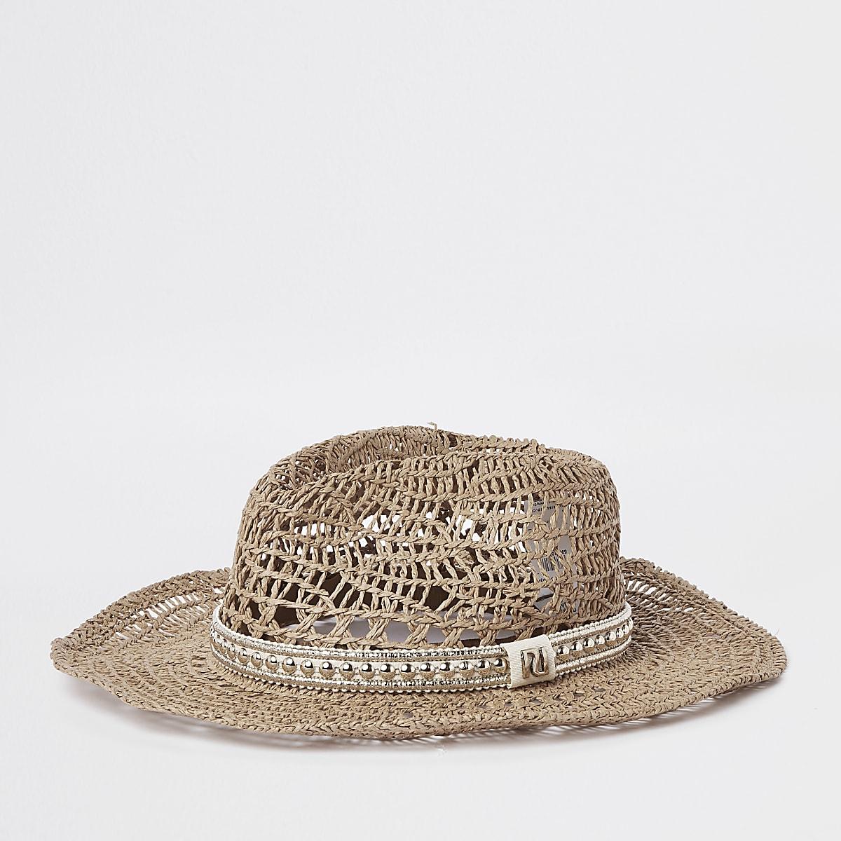 4fe6eaa60b6e3 Beige western style straw hat - Hats - Accessories - women