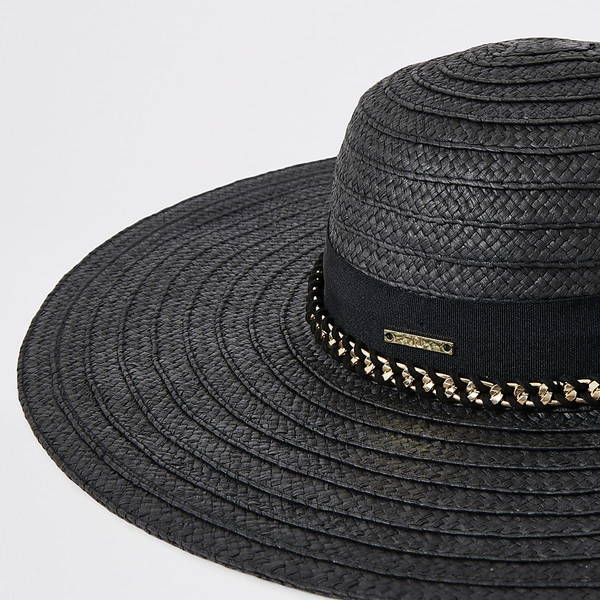 4a25834e73c4e Black oversized floppy straw hat - Hats - Accessories - women