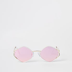Gold lens revo hex slim sunglasses