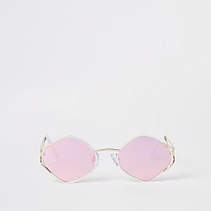 Gold lens revo hex slim sunglasses