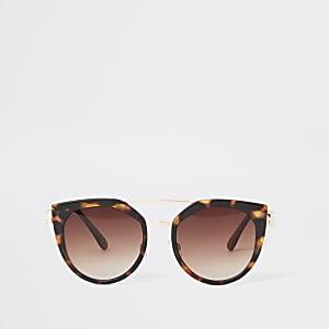 Goldene Cateye-Sonnenbrille
