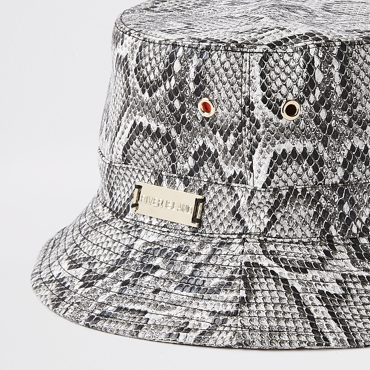 e8c846a66a499 Grey snake print bucket hat - Hats - Accessories - women