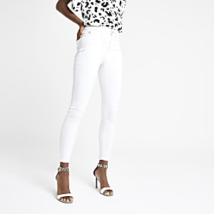 Molly – Jegging blanc à taille mi-haute