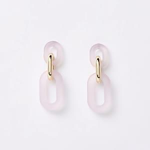 Light pink interlink drop earrings