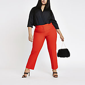 Plus red cigarette pants