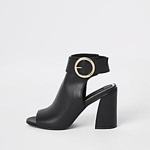Schwarze Shoe Boots