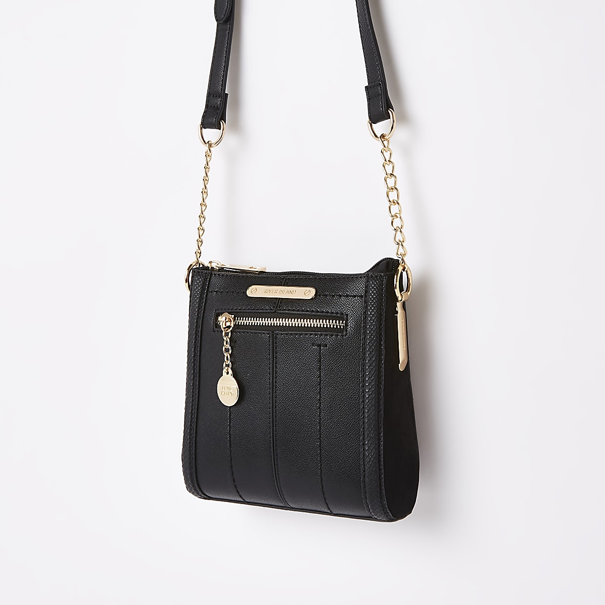 Black mini messenger cross body bag
