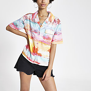 "Kurzärmeliges Hemd mit ""Cali Dreamer""-Print"