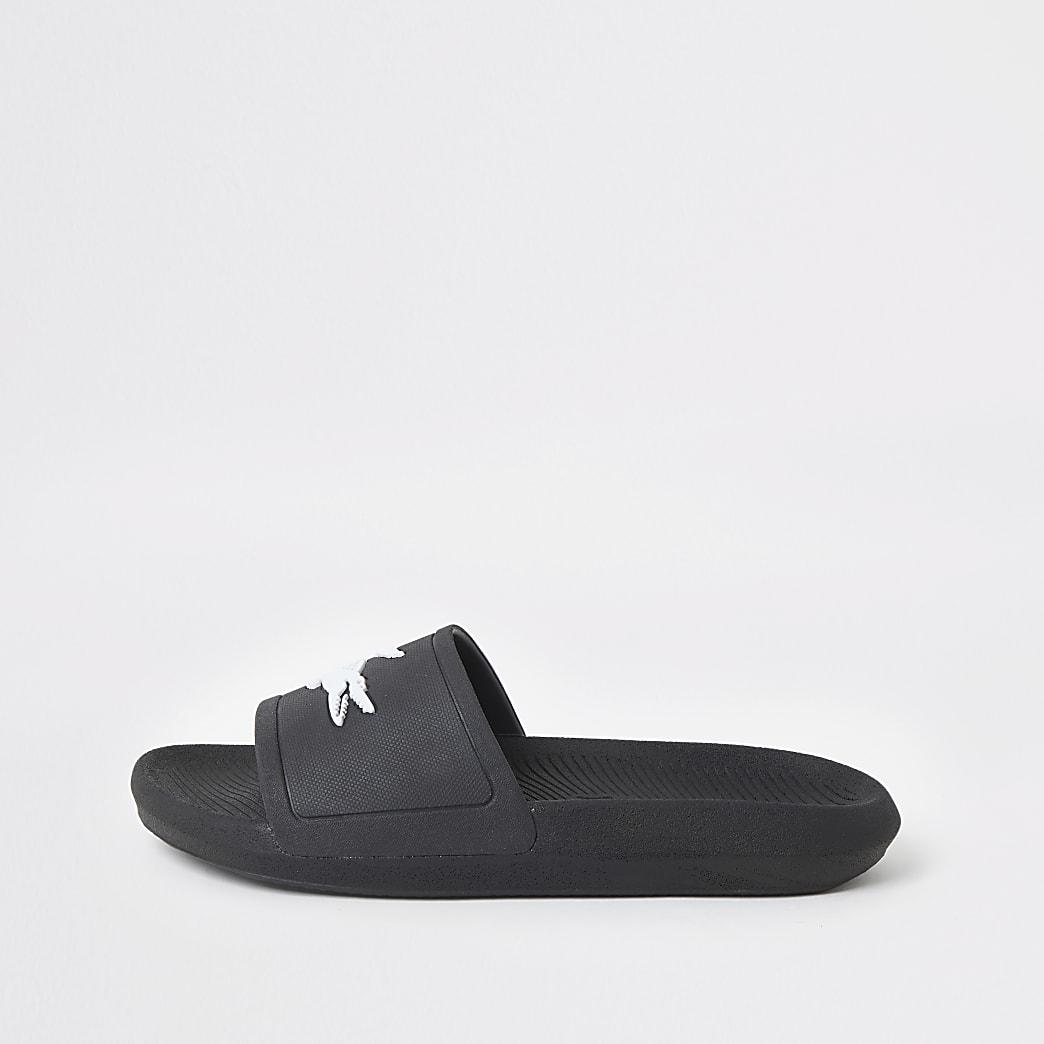 Lacoste black sliders