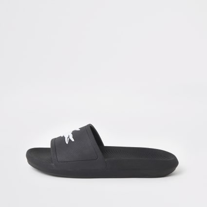 Lacoste black sliders