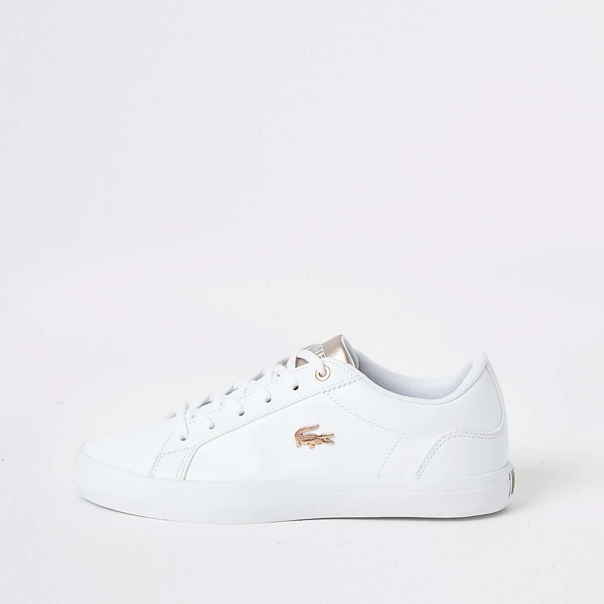 Lacoste white Lerond low-top leather sneakers
