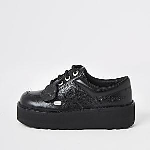 Kickers Lo Stack - Leren laarzen