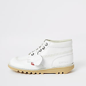 Kickers white Hi Classic boots