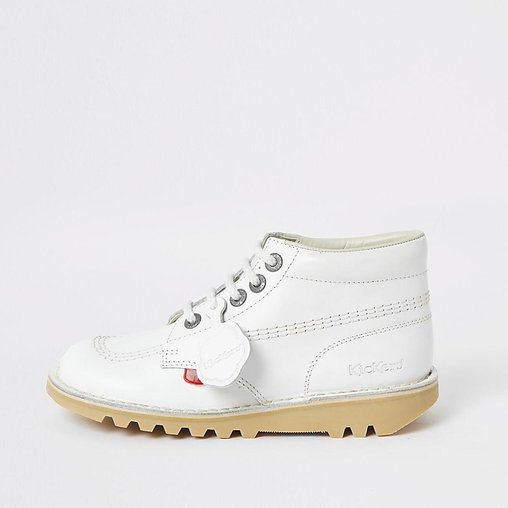 Kickers - Witte Hi Classic-schoenen