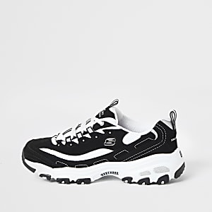 Skechers black D'Lite Biggest Fan sneakers