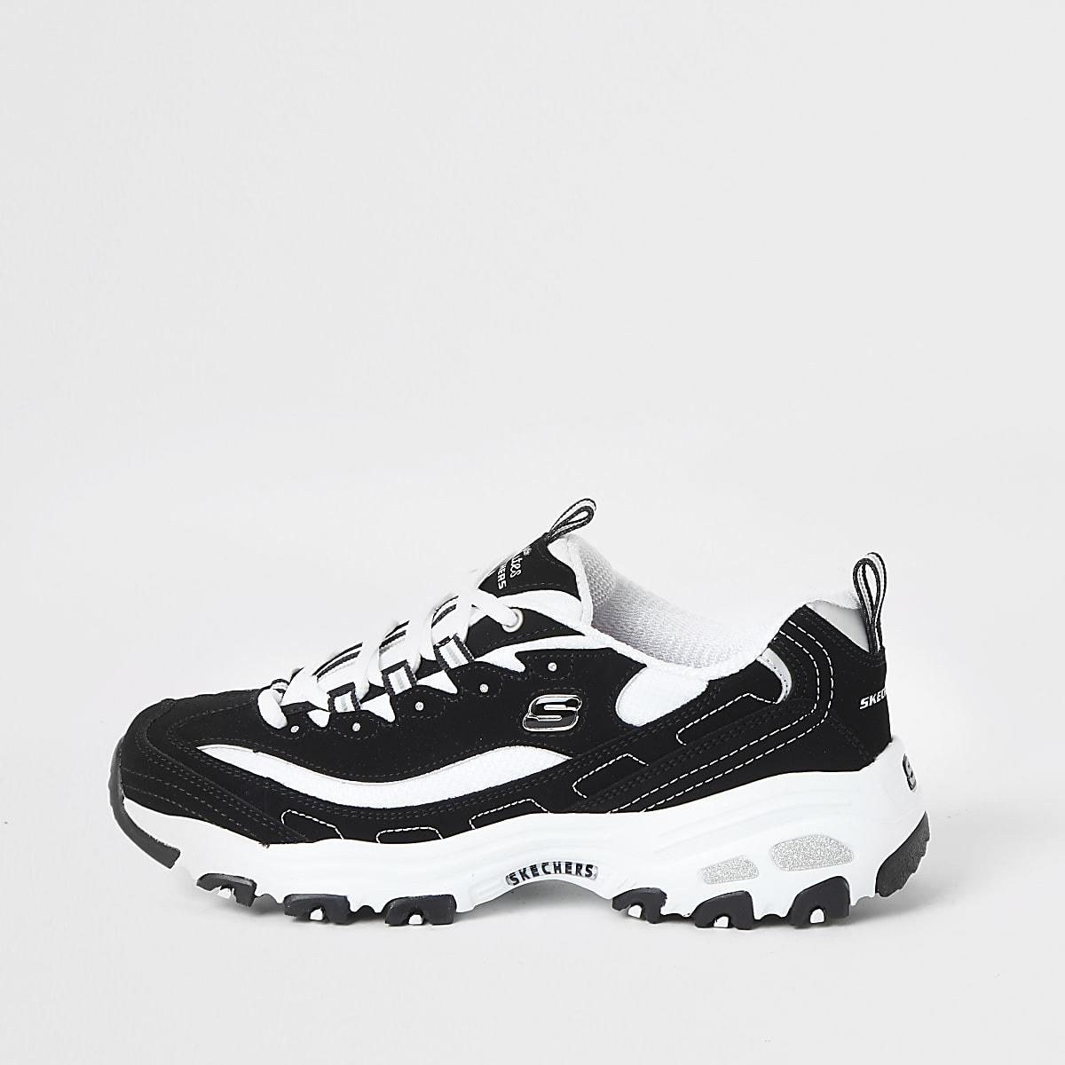 Skechers black D'Lite Biggest Fan sneakers