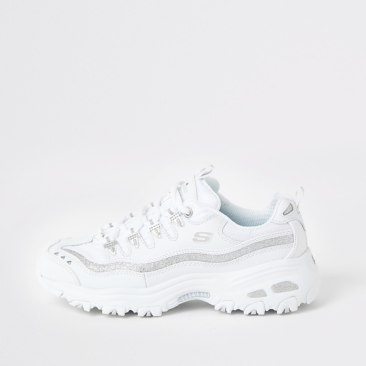 Skechers white D'Lites Now And Then trainers