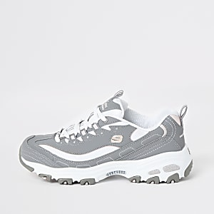 Skechers grey Biggest Fan sneakers
