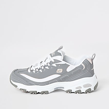 Skechers grey Biggest Fan trainers