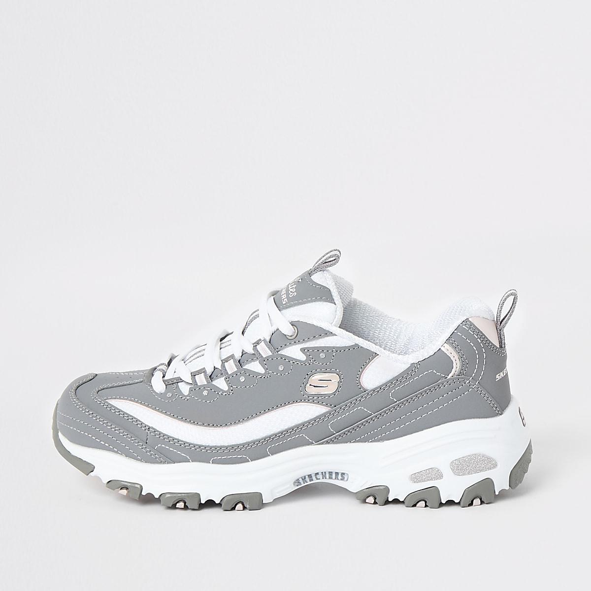 Skechers grey Biggest Fan sneakers