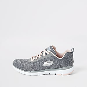 Skechers grey Flex Appeal Insiders trainers