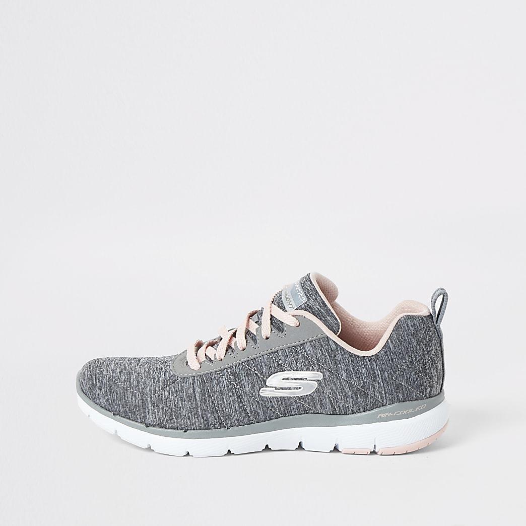 Skechers - Flex Appeal Insiders - Grijze sneakers
