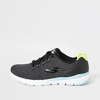 Skechers black Flex Flashy Nite trainers