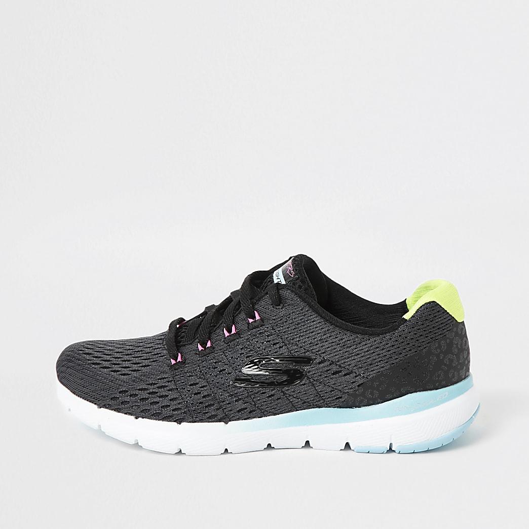 Skechers black Flex Flashy Nite trainers
