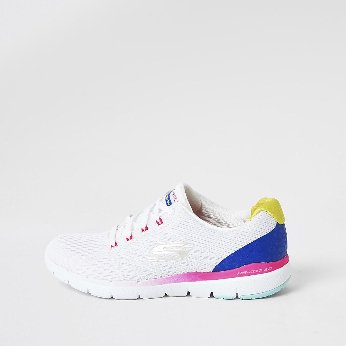 Skechers – Flex Flashy Nite – Baskets blanches