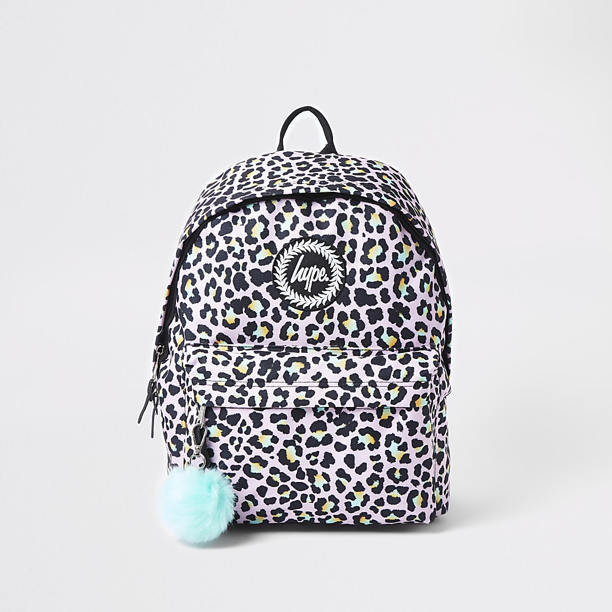 Hype light purple leopard print backpack