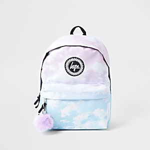 Hype light blue faded backpack