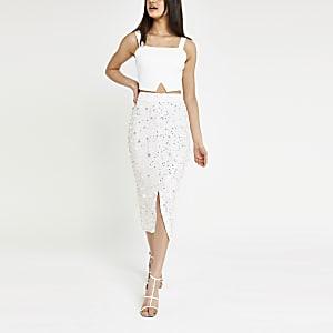 Witte rok met lovertjes